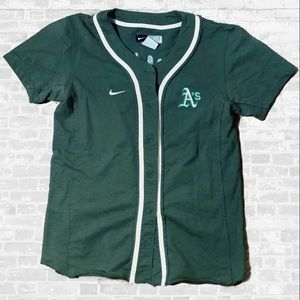 Nike Oakland As MLB camouflage green baseball top